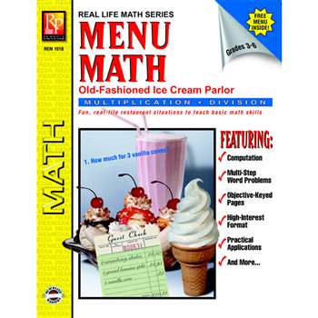 Menu Math Ice Cream Parlor Book-2 Multi By Remedia Publications