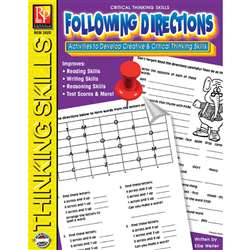 Critical Thinking Skills Following Directions By Remedia Publications