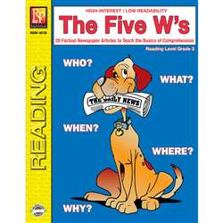 The 5 Ws 3Rd Grade Reading Level By Remedia Publications