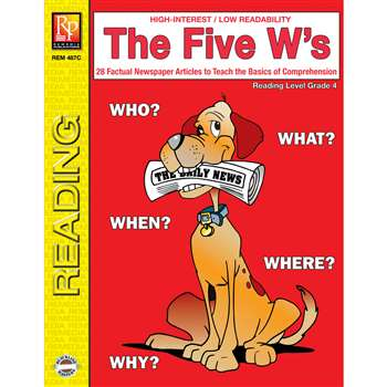 The 5 Ws 4Th Grade Reading Level By Remedia Publications