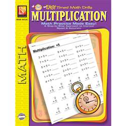 Multiplication Easy Timed Math Drills By Remedia Publications