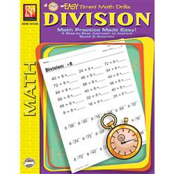 Easy Timed Math Drills Division By Remedia Publications