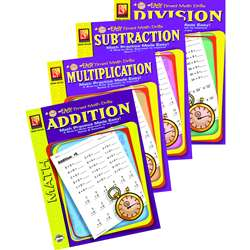Easy Timed Math Drills 4 Book Set By Remedia Publications