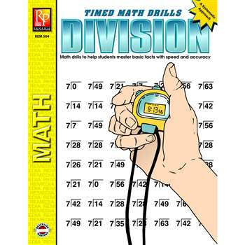 Timed Math Facts Division By Remedia Publications