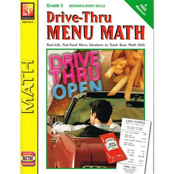 Drive Thru Menu Math Beginning Money Skills By Remedia Publications