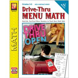 Drive Thru Menu Math Add & Subtract Money By Remedia Publications