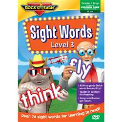 Sight Words Level 3 Dvd By Rock N Learn