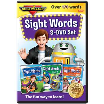 Rock N Learn Sight Words 3 DVD Set, RL-316