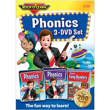 Rock N Learn Phonics 3 DVD Set, RL-317