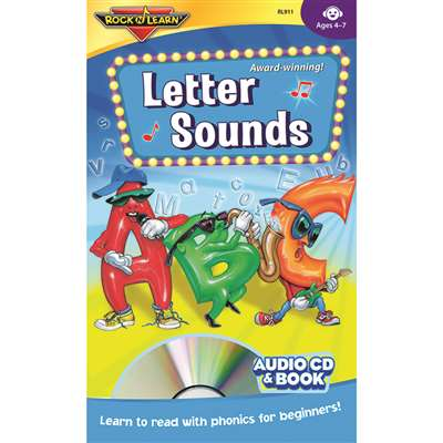 Letter Sounds Cd + Book By Rock N Learn