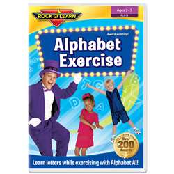 Alphabet Exercise Dvd By Rock N Learn