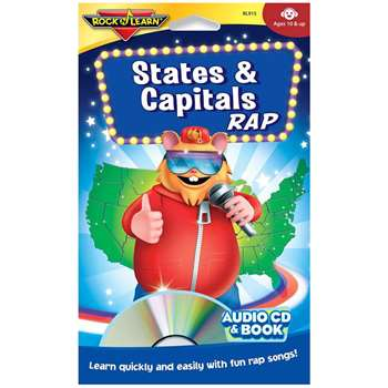 States & Capitals Rap Cd+Book By Rock N Learn