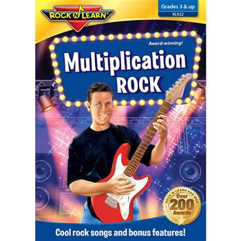 Multiplication Rock On Dvd By Rock N Learn