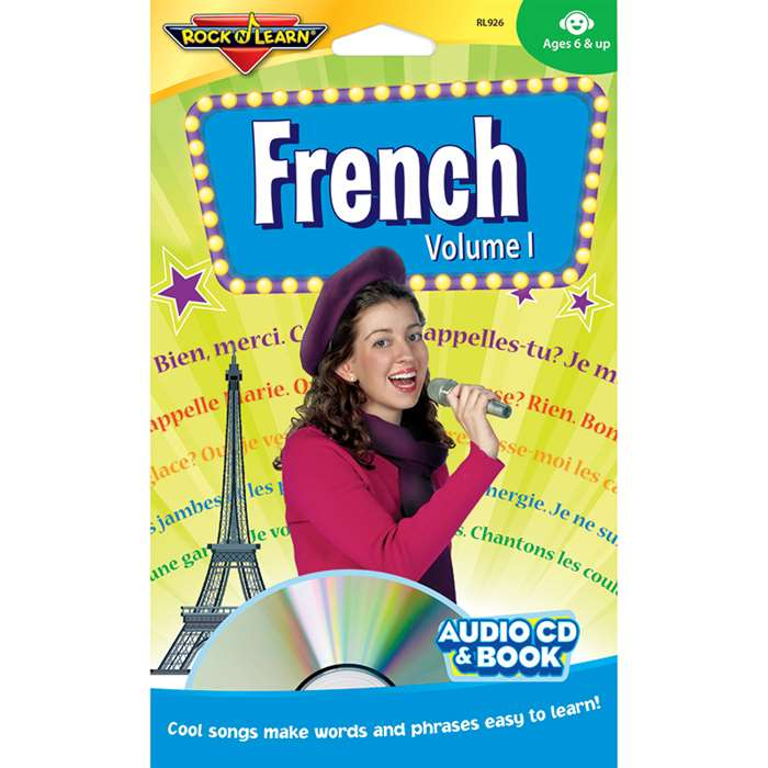 French Vol 1 Cd + Book By Rock N Learn