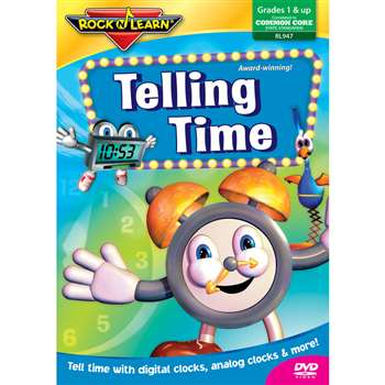 Telling Time Video Dvd By Rock N Learn