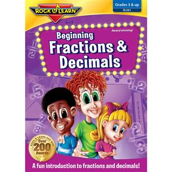 Beg Fractions Decimals On Dvd By Rock N Learn