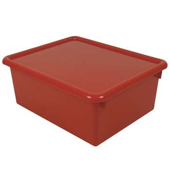 Stowaway Red Letter Box With Lid 13 X 10-1/2 X 5 By Romanoff Products