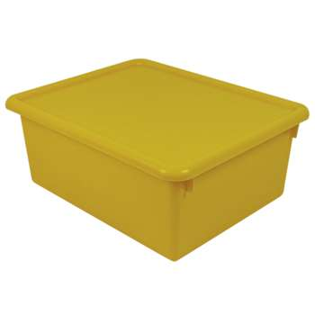 Stowaway Yellow Letter Box With Lid 13 X 10-1/2 X 5 By Romanoff Products