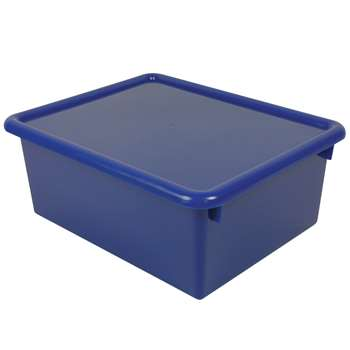 Stowaway Blue Letter Box With Lid 13 X 10-1/2 X 5 By Romanoff Products