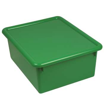 Stowaway Green Letter Box With Lid 13 X 10-1/2 X 5 By Romanoff Products