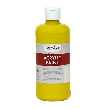 Acrylic Paint 16 Oz Chrome Yellow, RPC101010