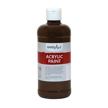 Acrylic Paint 16 Oz Burnt Umber, RPC101090