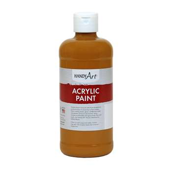 Acrylic Paint 16 Oz Raw Sienna, RPC101093