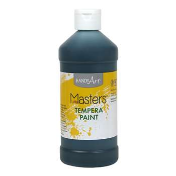 Little Masters Black 16Oz Tempera Paint By Rock Paint / Handy Art