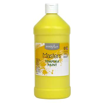 Little Masters Yellow 32Oz Tempera Paint By Rock Paint / Handy Art