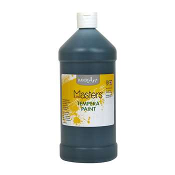 Little Masters Black 32Oz Tempera Paint By Rock Paint / Handy Art