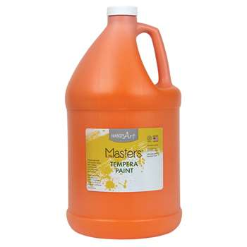 Little Masters Orange 128Oz Tempera Paint By Rock Paint / Handy Art