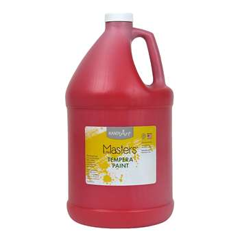Little Masters Red 128Oz Tempera Paint By Rock Paint / Handy Art