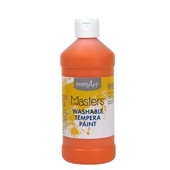 Little Masters Orange 16Oz Washable Paint By Rock Paint / Handy Art