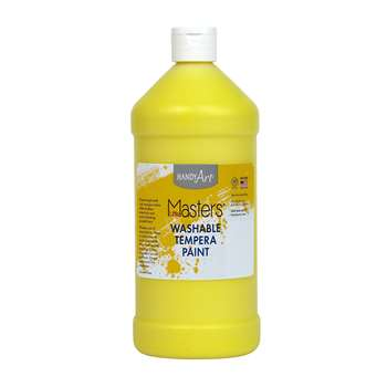 Little Masters Yellow 32Oz Washable Paint By Rock Paint / Handy Art