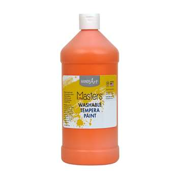 Little Masters Orange 32Oz Washable Paint, RPC213715