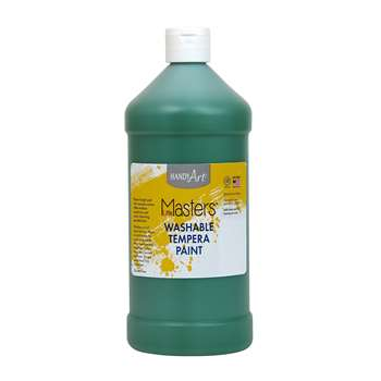 Little Masters Green 32Oz Washable Paint, RPC213745