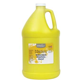 Little Masters Yellow 128Oz Washable Paint By Rock Paint / Handy Art