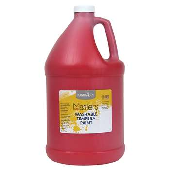 Little Masters Red 128Oz Washable Paint By Rock Paint / Handy Art