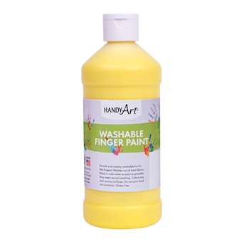 Handy Art Yellow 16Oz Washable Finger Paint By Rock Paint / Handy Art