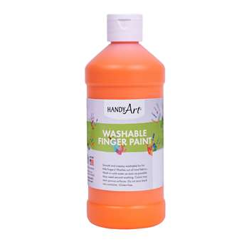 Handy Art Orange 16Oz Washable Finger Paint By Rock Paint / Handy Art