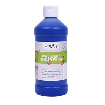 Handy Art Blue 16Oz Washable Finger Paint By Rock Paint / Handy Art