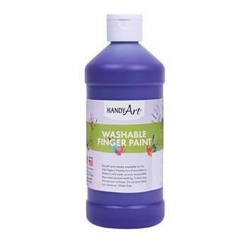 Handy Art Violet 16Oz Washable Finger Paint By Rock Paint / Handy Art