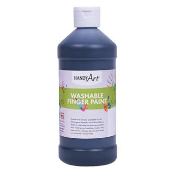 Handy Art Black 16Oz Washable Finger Paint By Rock Paint / Handy Art