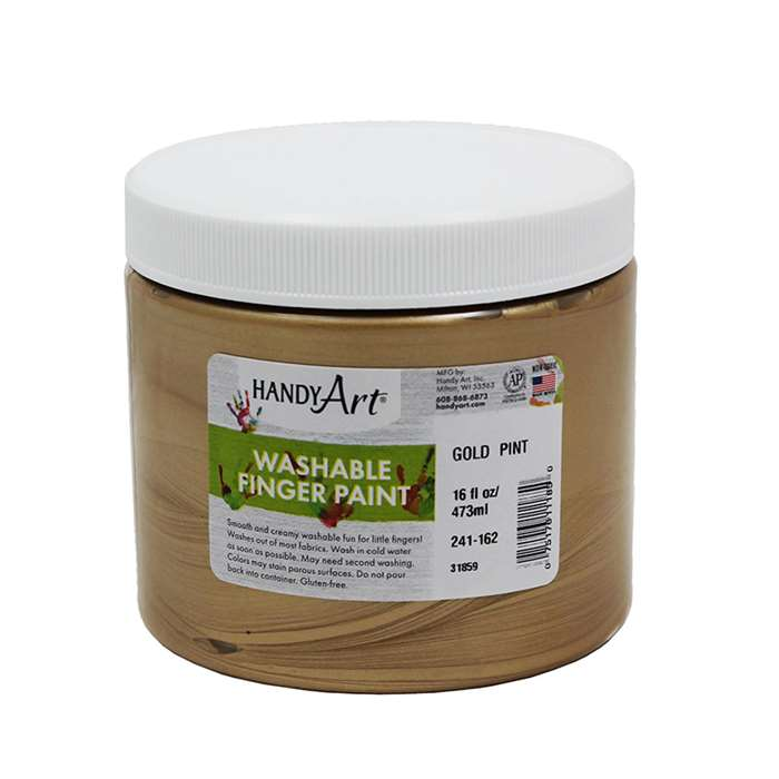 Handy Art Gold 16Oz Washable Finger Paint, RPC241162