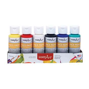 Handy Art 2Oz 6/Set Washable Face Paint Kit Bottle, RPC882555