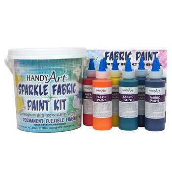 Handy Art Fabric Paint Sparkle Kit 9 - 4Oz Bottles By Rock Paint / Handy Art