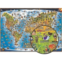Childrens Map Of The Ancient World, RWPDM003