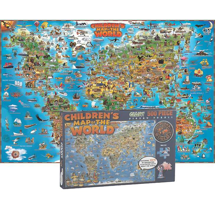 World Map Jigsaw Puzzle 500 Pcs, RWPDP001