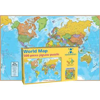 World Map International 500 Piece, RWPHMP01