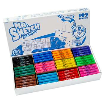 Mr Sketch Scented 192Ct Chisel Tip Markers, SAN1905311